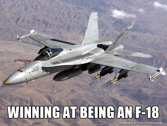 WINNING AT BEING AN F-18