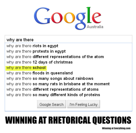 what are rhetorical questions Rhetorical question definition: a question to which no answer is required: used  esp for dramatic effect an example is | meaning, pronunciation, translations.